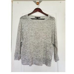 F21 Light Speckled Grey Knit Top